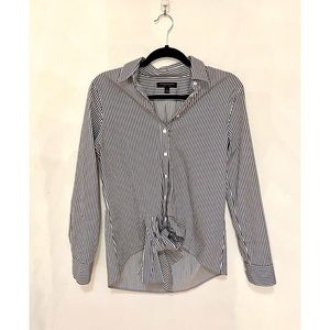 Banana Republic Womens Dillon Tie Front Blouse